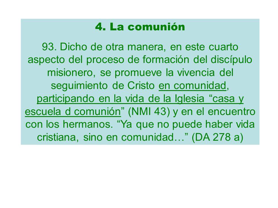 4. La comunión