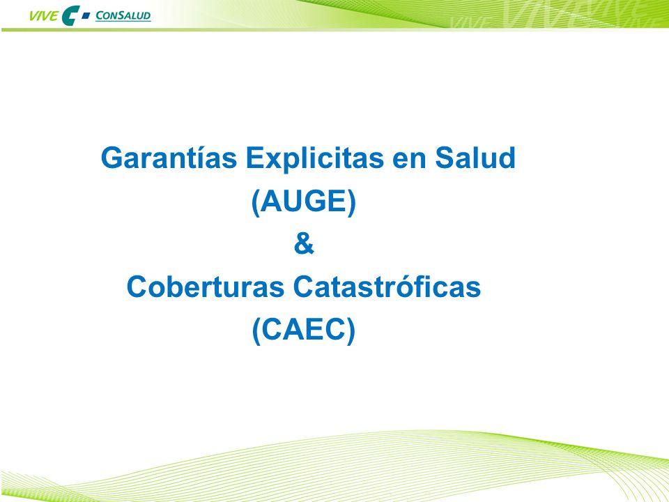 Garantías Explicitas en Salud Coberturas Catastróficas
