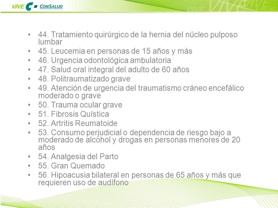 44. Tratamiento quirúrgico de la hernia del núcleo pulposo lumbar