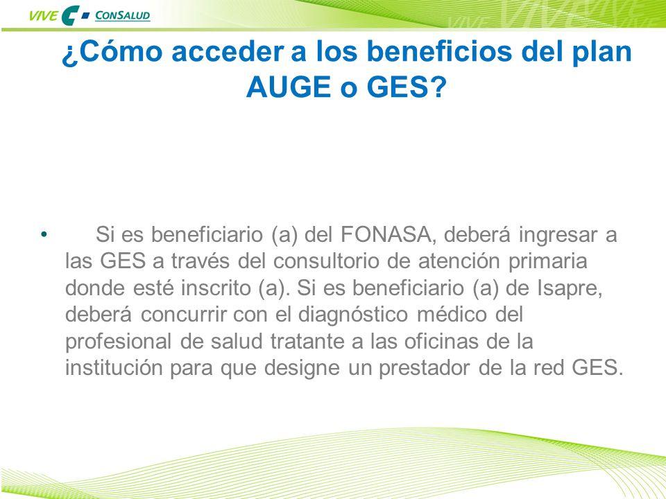 ¿Cómo acceder a los beneficios del plan AUGE o GES