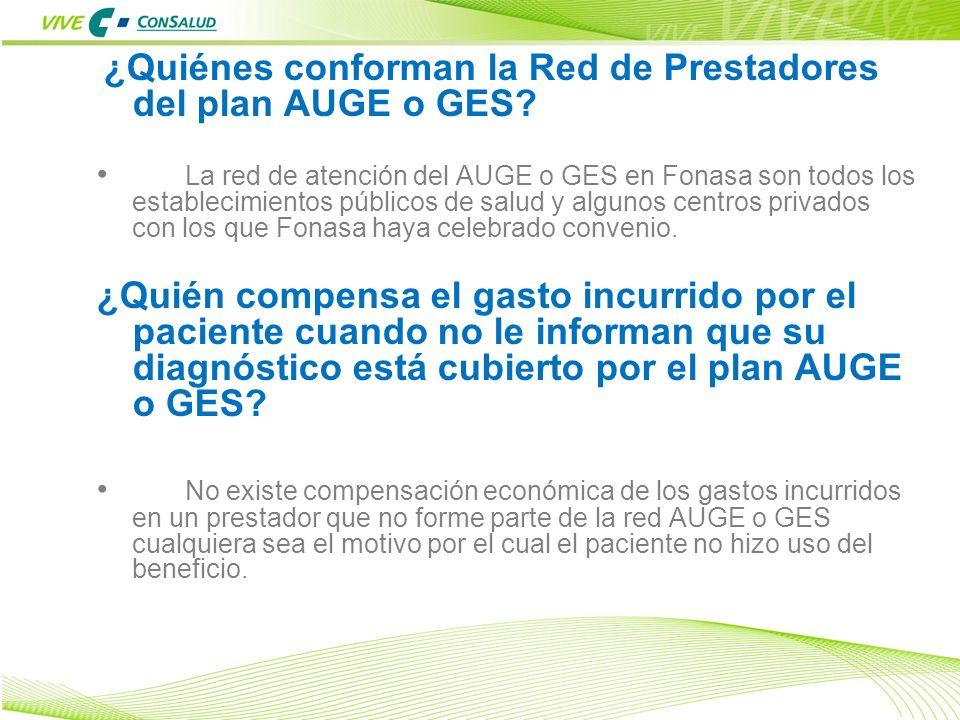 ¿Quiénes conforman la Red de Prestadores del plan AUGE o GES