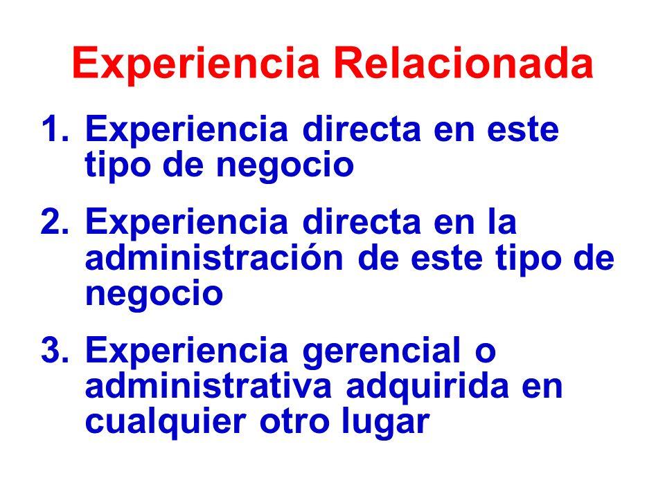 Experiencia Relacionada