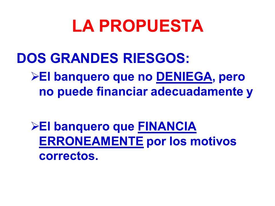 LA PROPUESTA DOS GRANDES RIESGOS: