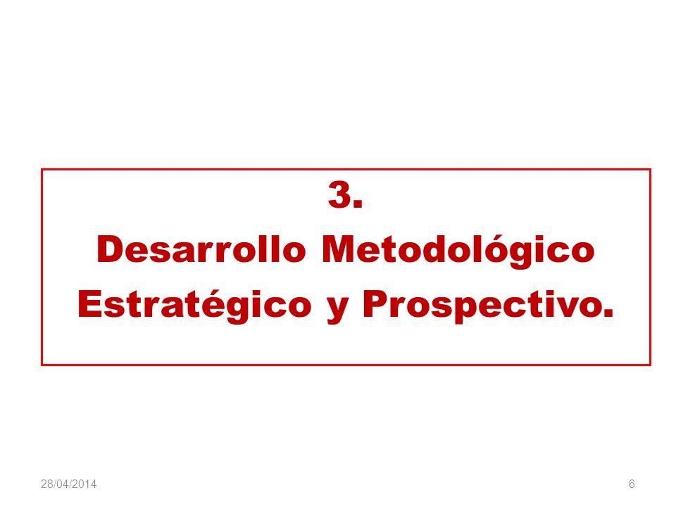 Desarrollo Metodológico Estratégico y Prospectivo.