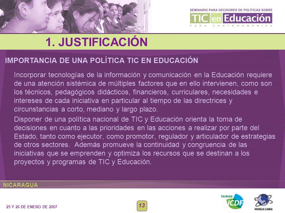IMPORTANCIA DE UNA POLÍTICA TIC EN EDUCACIÓN