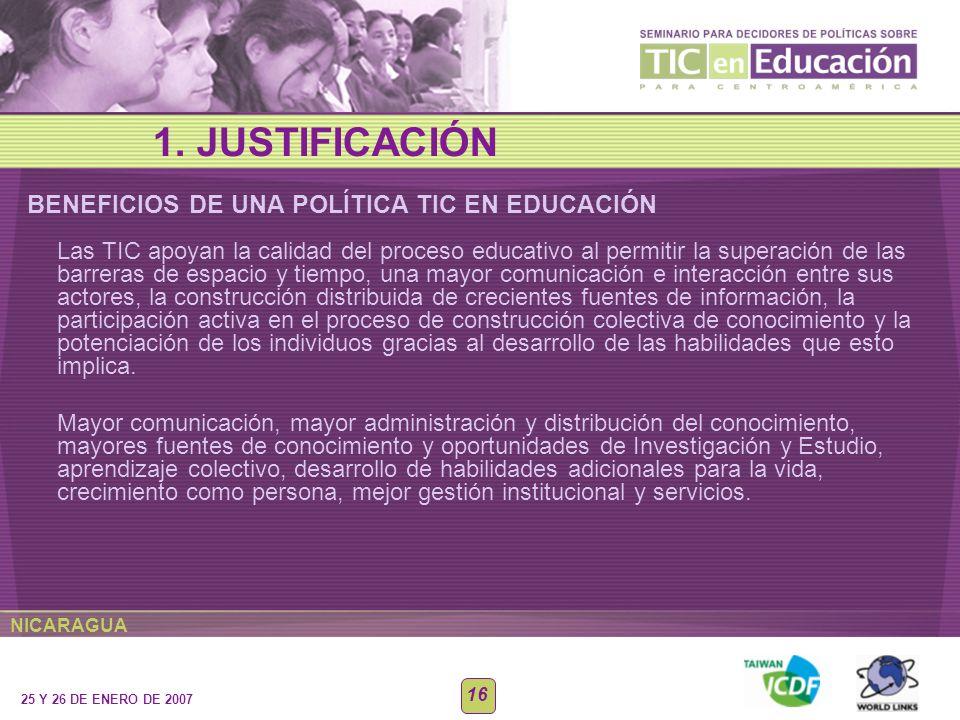 1. JUSTIFICACIÓN