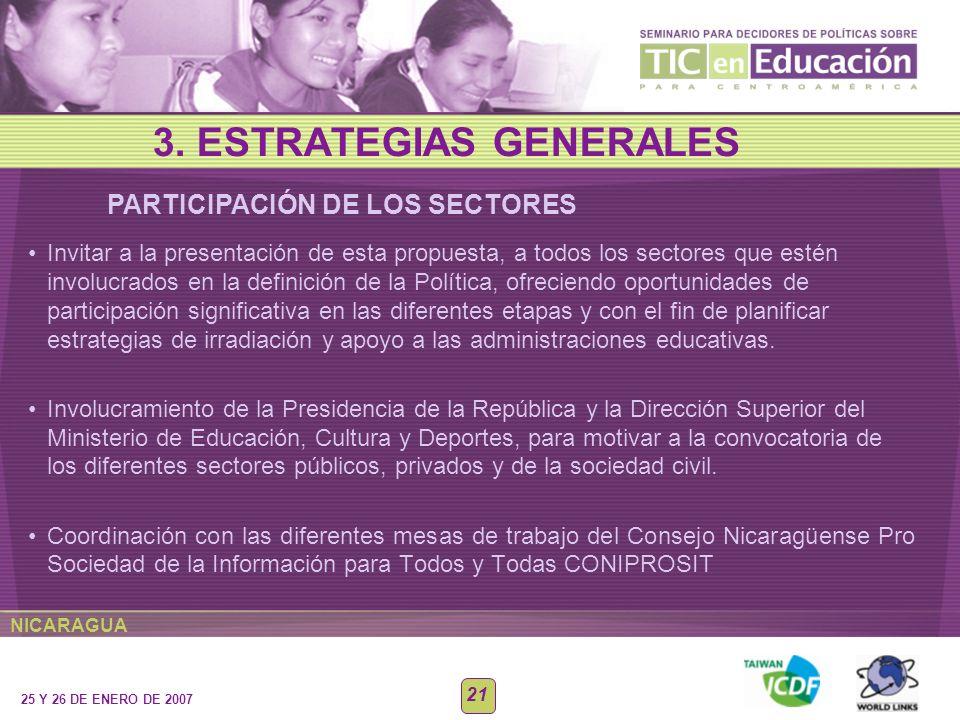 3. ESTRATEGIAS GENERALES