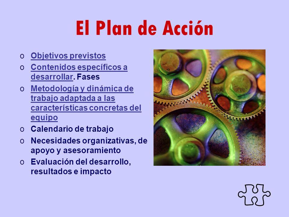 El Plan de Acción Objetivos previstos