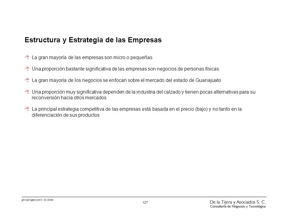 Estructura y Estrategia de las Empresas