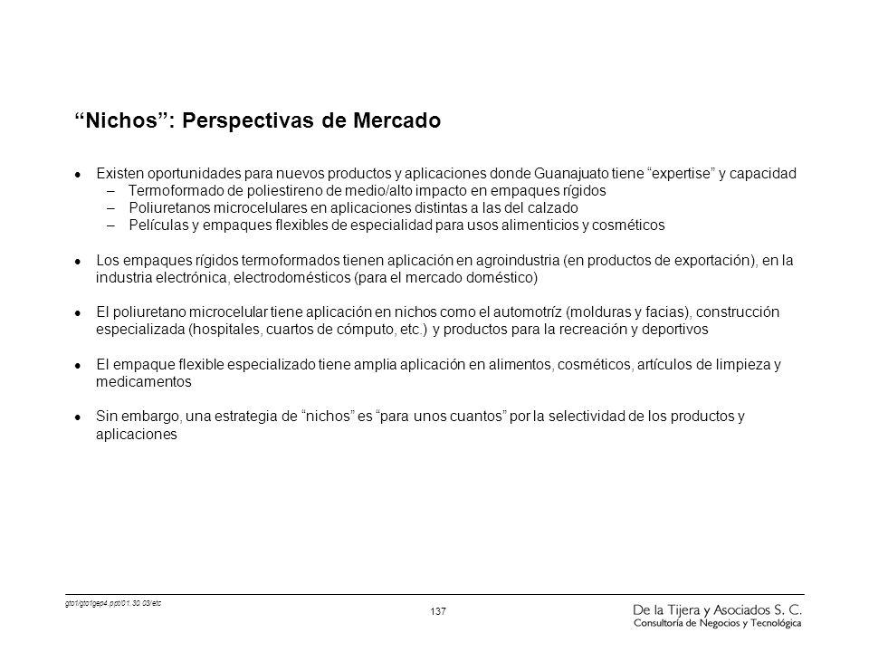 Nichos : Perspectivas de Mercado