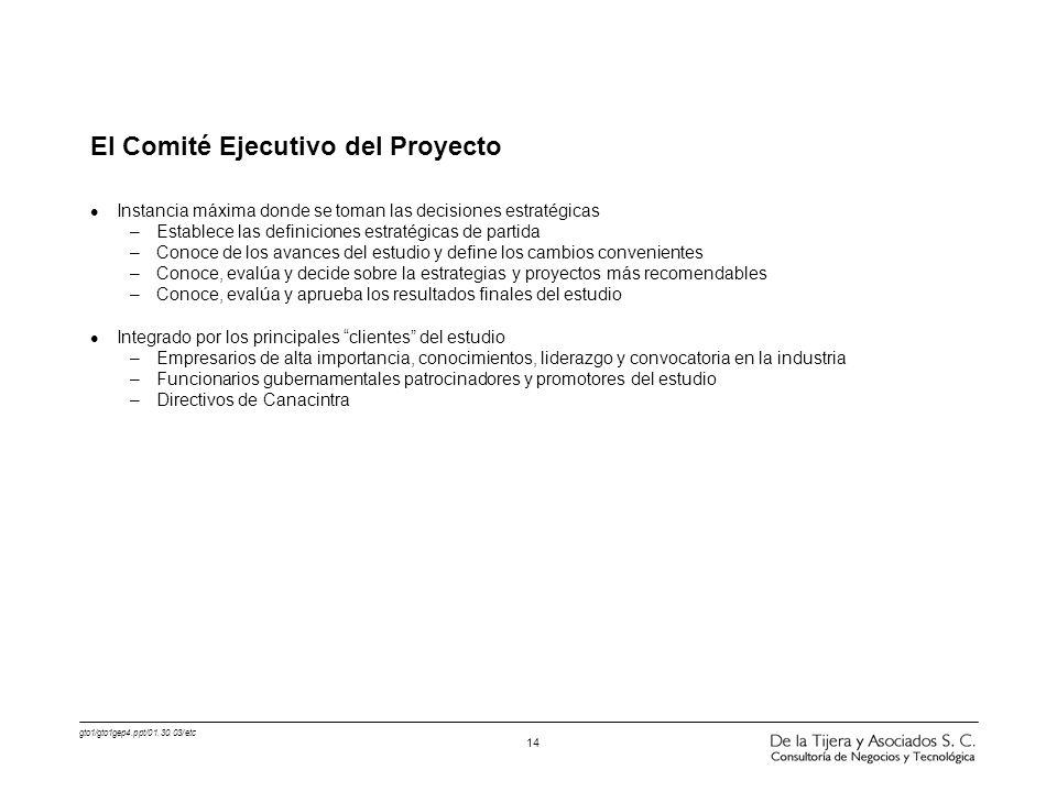 El Comité Ejecutivo del Proyecto