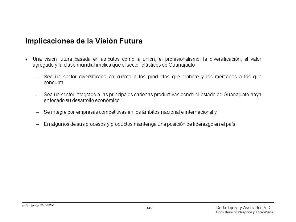 Implicaciones de la Visión Futura