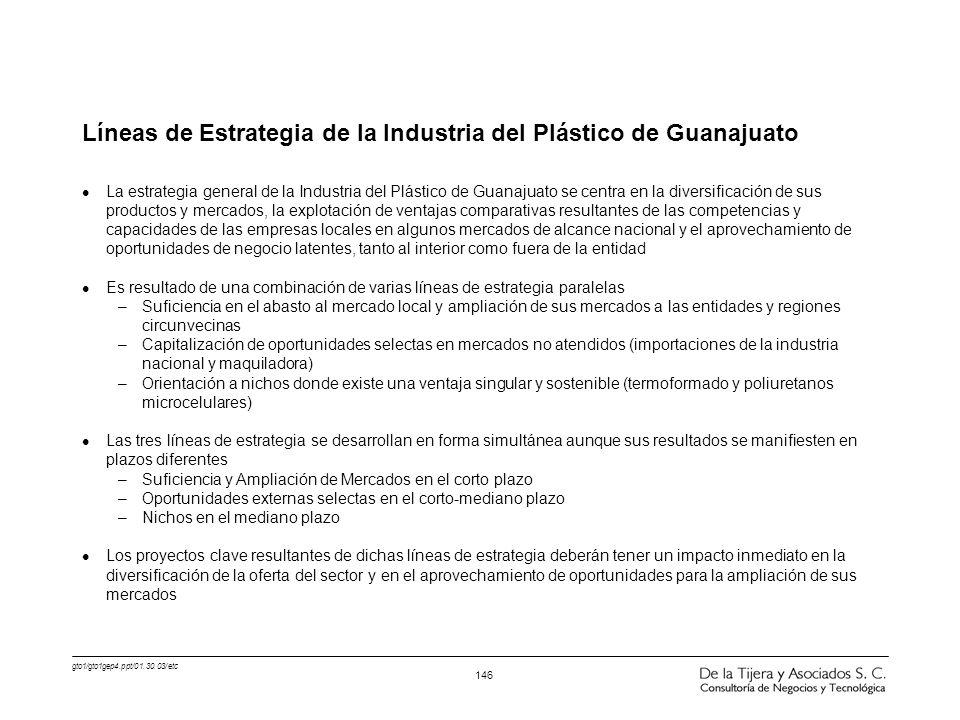 Líneas de Estrategia de la Industria del Plástico de Guanajuato
