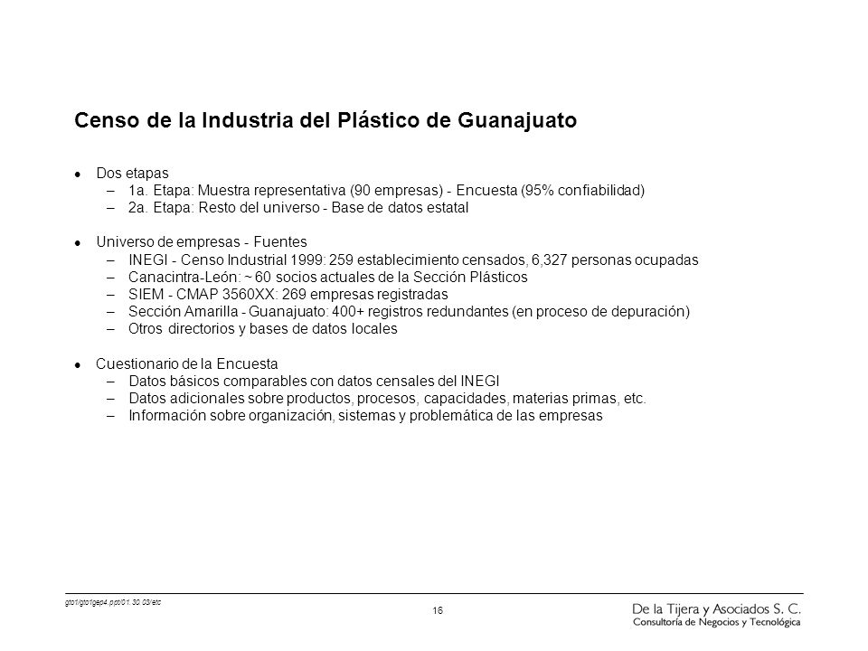 Censo de la Industria del Plástico de Guanajuato