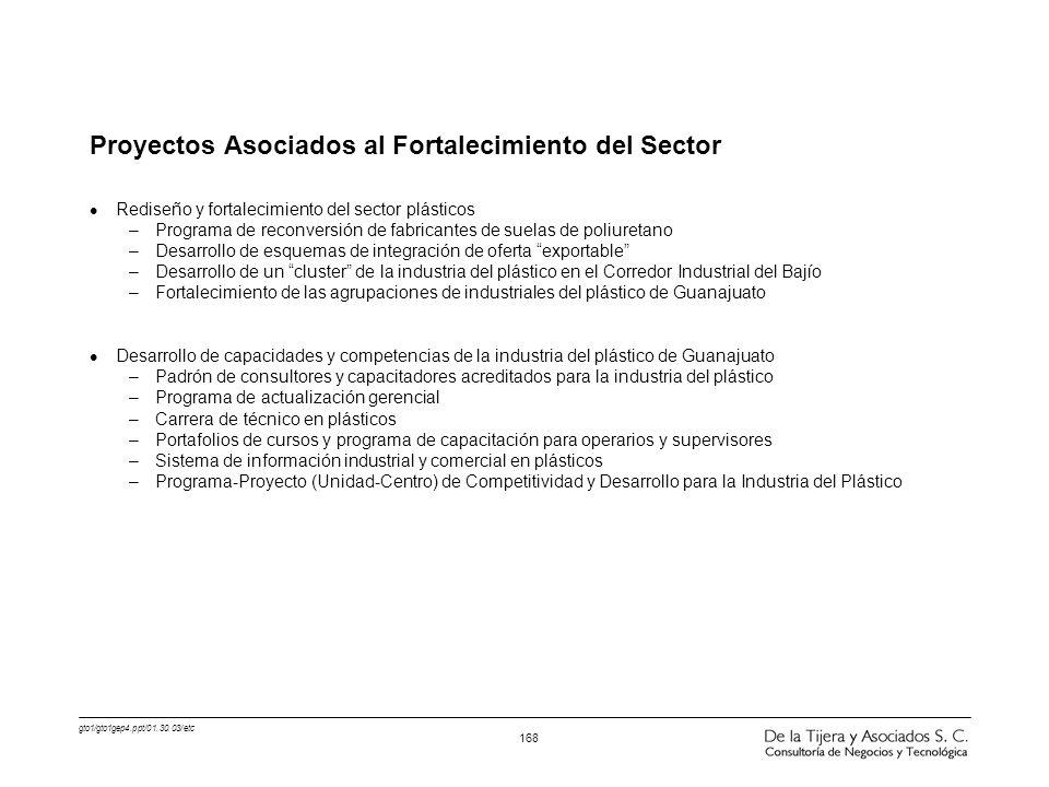 Proyectos Asociados al Fortalecimiento del Sector