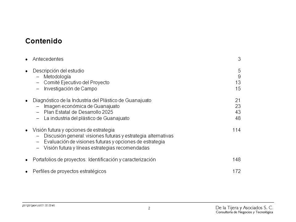Contenido Antecedentes 3 Descripción del estudio 5 Metodología 9