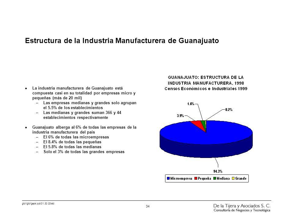 Estructura de la Industria Manufacturera de Guanajuato