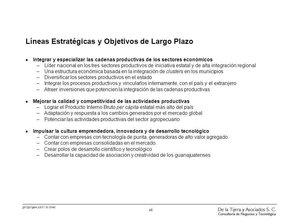 Líneas Estratégicas y Objetivos de Largo Plazo