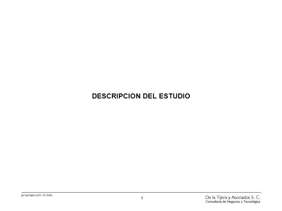 DESCRIPCION DEL ESTUDIO
