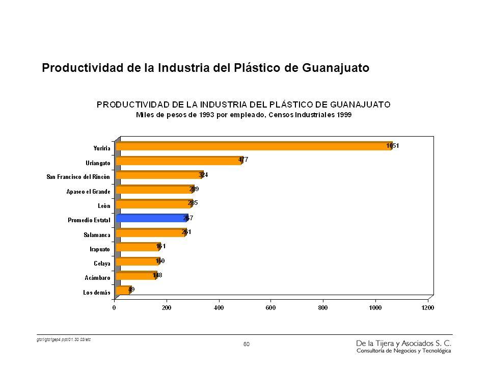 Productividad de la Industria del Plástico de Guanajuato