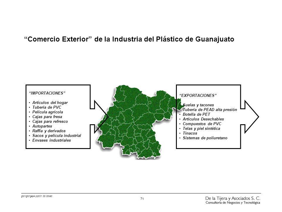 Comercio Exterior de la Industria del Plástico de Guanajuato