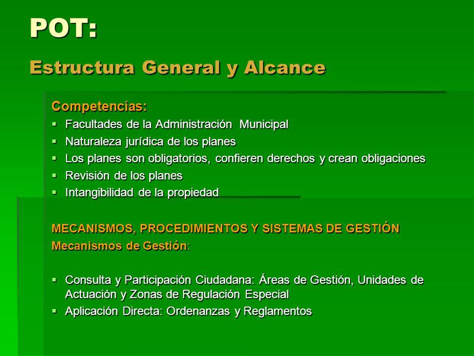 POT: Estructura General y Alcance