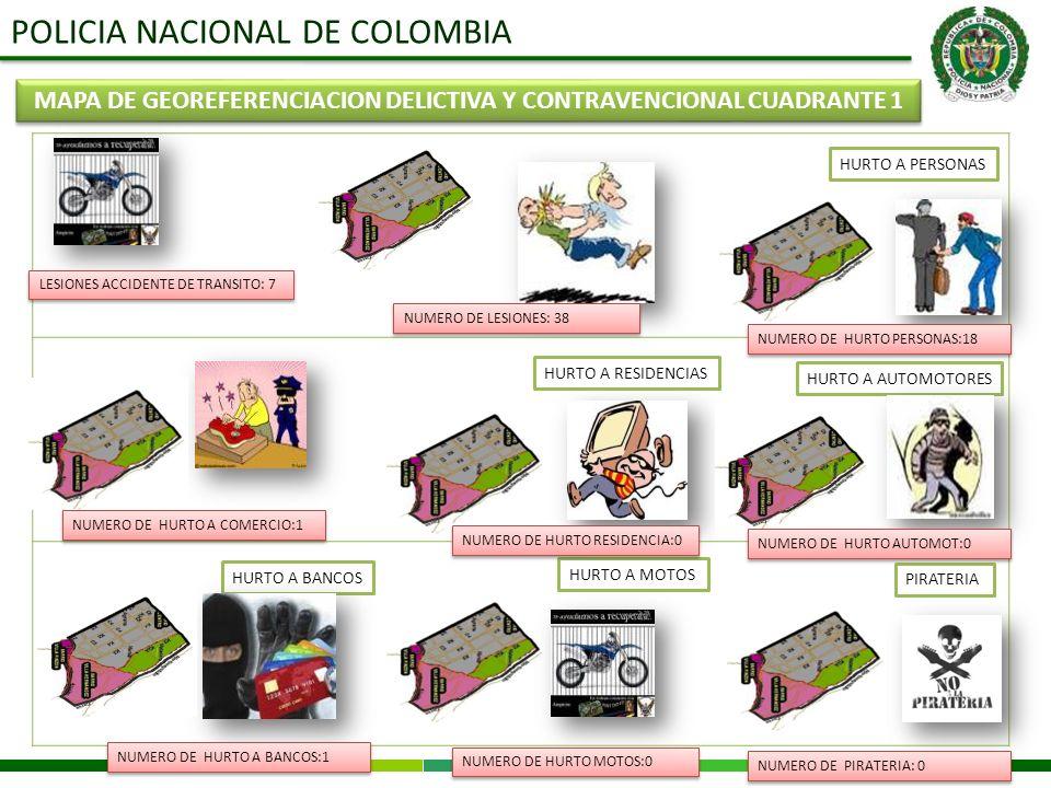 MAPA DE GEOREFERENCIACION DELICTIVA Y CONTRAVENCIONAL CUADRANTE 1