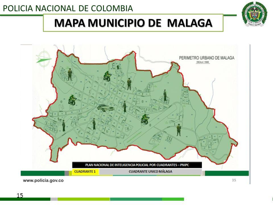 MAPA MUNICIPIO DE MALAGA