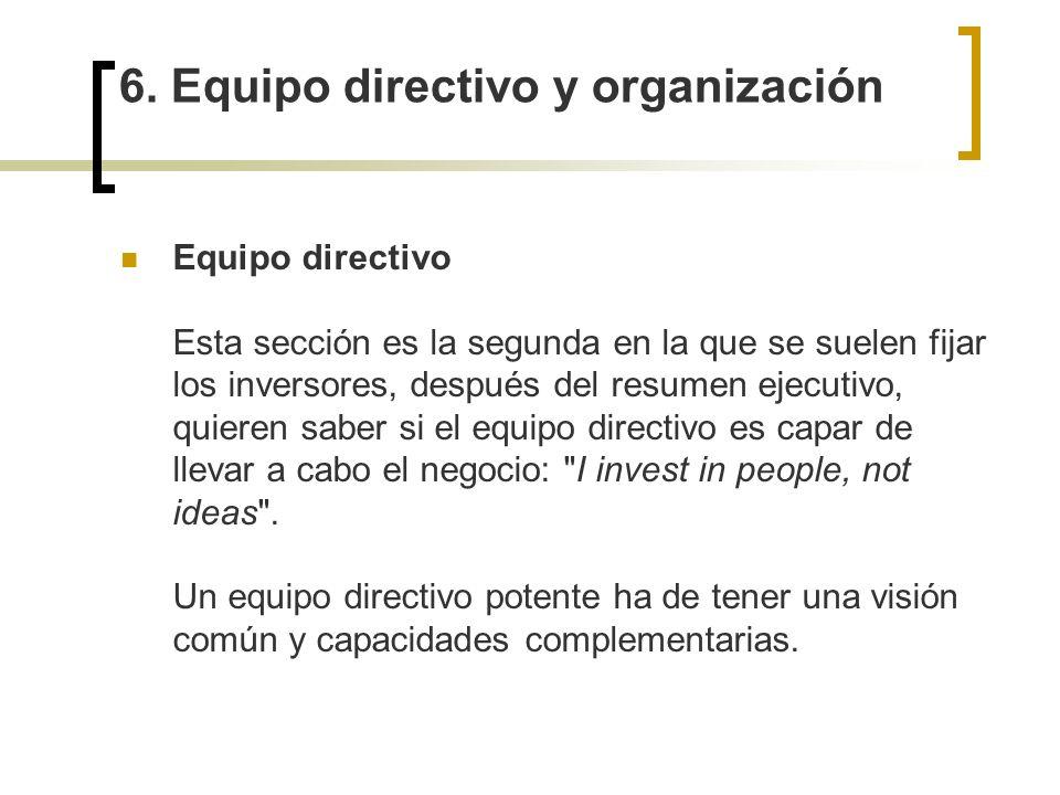 6. Equipo directivo y organización