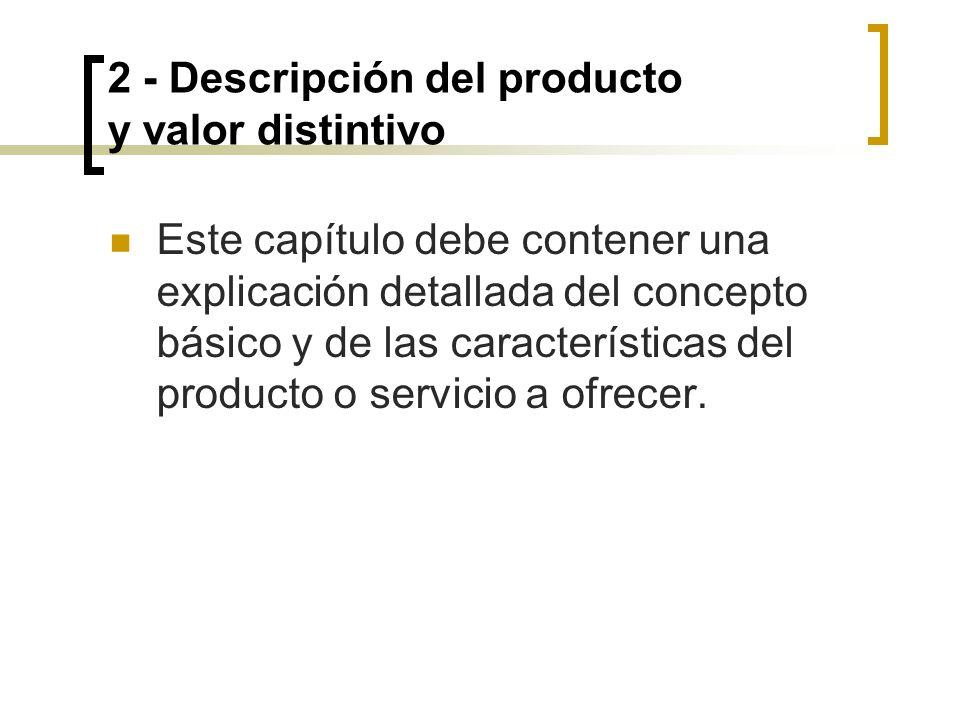 2 - Descripción del producto y valor distintivo