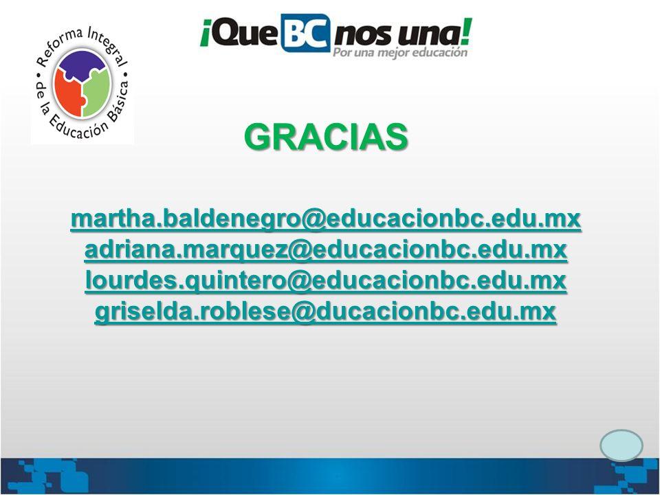 GRACIAS martha. baldenegro@educacionbc. edu. mx adriana
