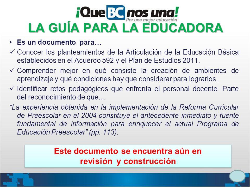 LA GUÍA PARA LA EDUCADORA