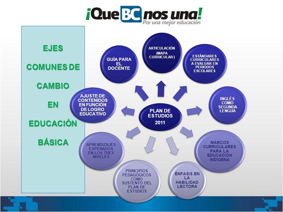 EJES COMUNES DE CAMBIO EN EDUCACIÓN BÁSICA