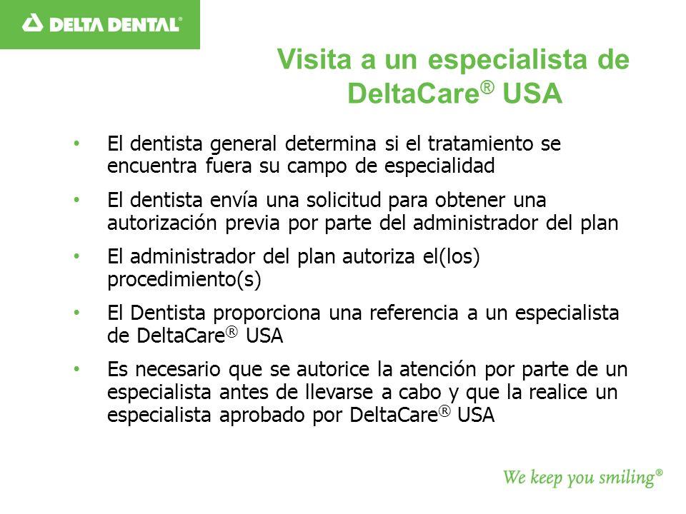 Visita a un especialista de DeltaCare® USA