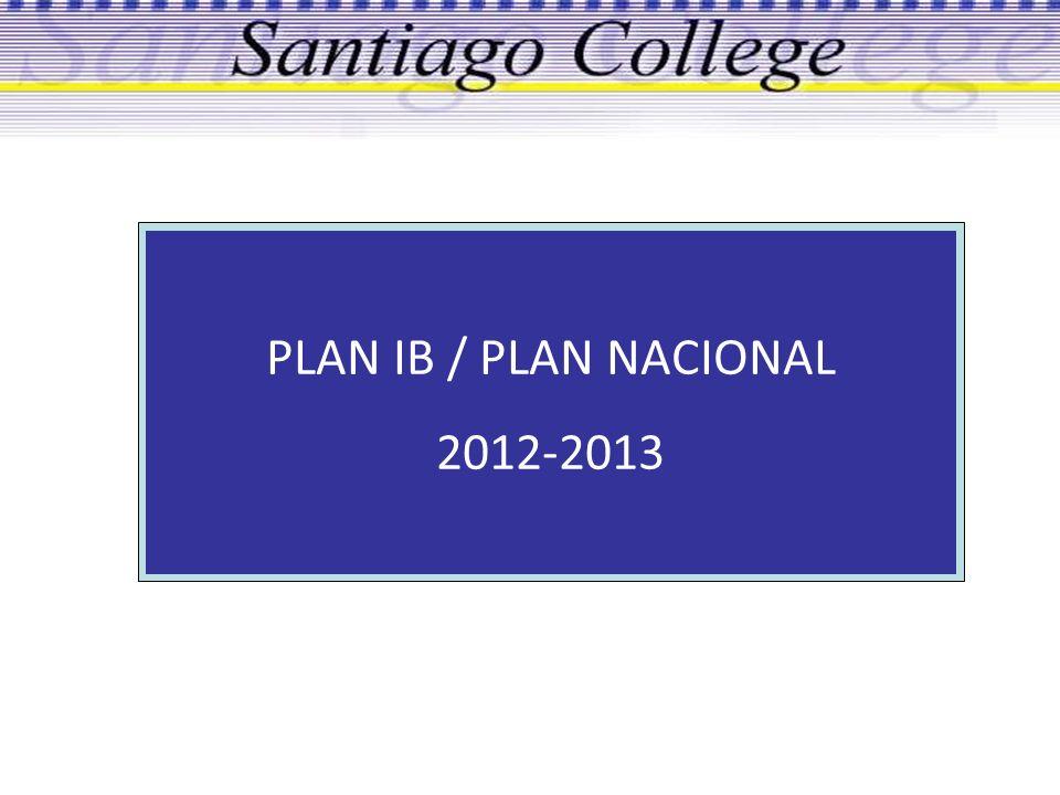 PLAN IB / PLAN NACIONAL 2012-2013 1