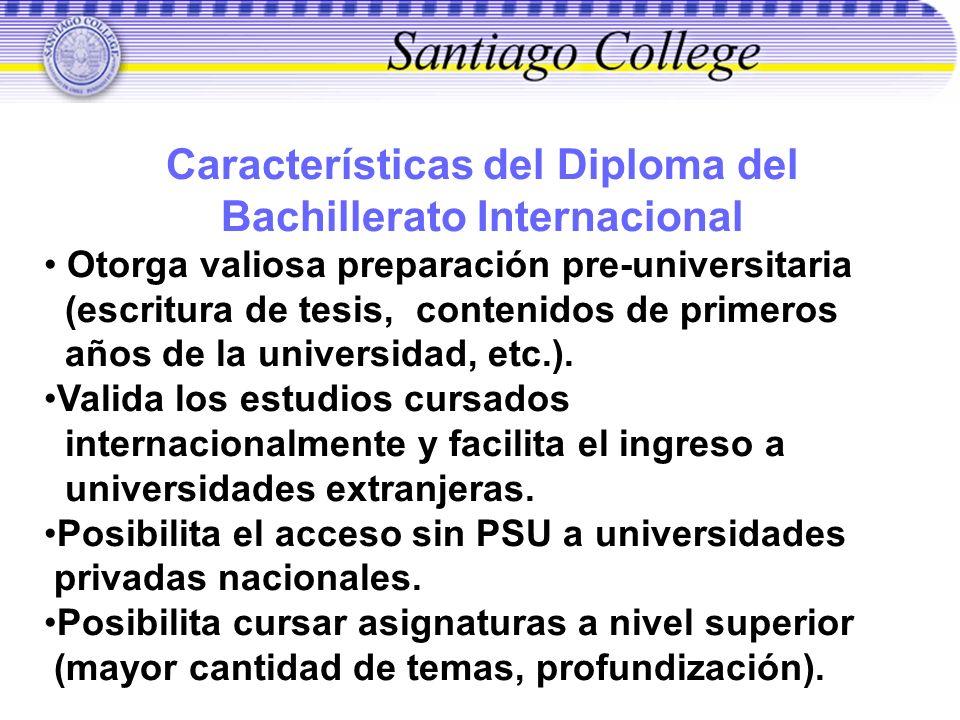 Características del Diploma del Bachillerato Internacional
