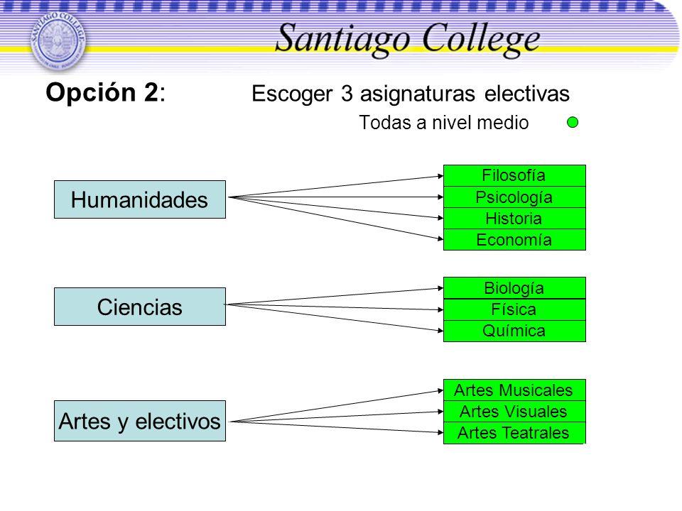 Todas a nivel medio Humanidades Ciencias Artes y electivos Filosofía