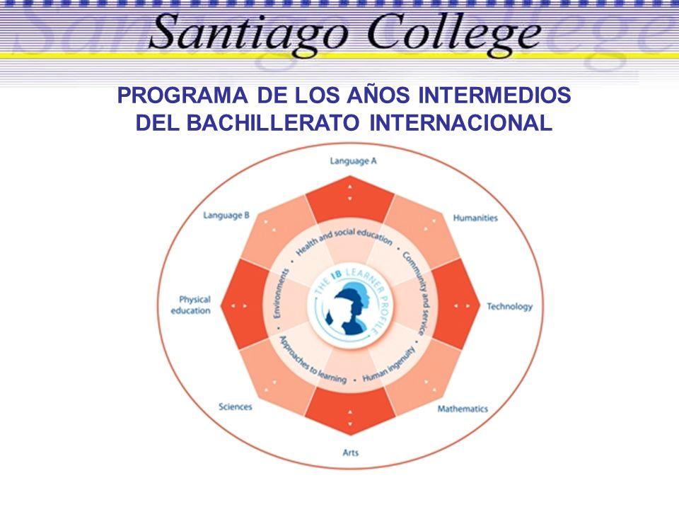 PROGRAMA DE LOS AÑOS INTERMEDIOS DEL BACHILLERATO INTERNACIONAL