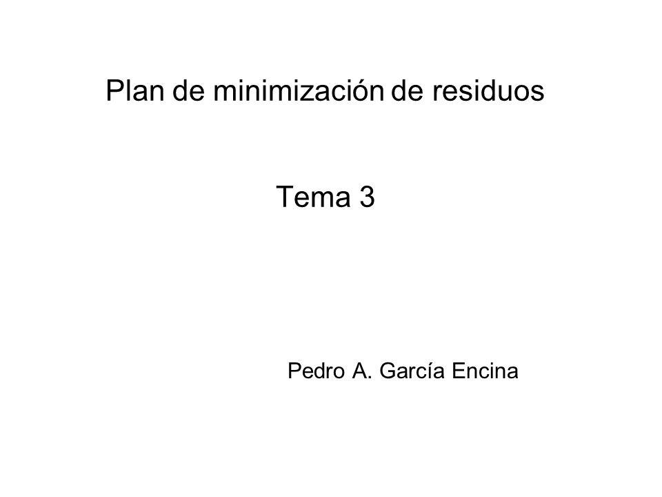 Plan de minimización de residuos Tema 3