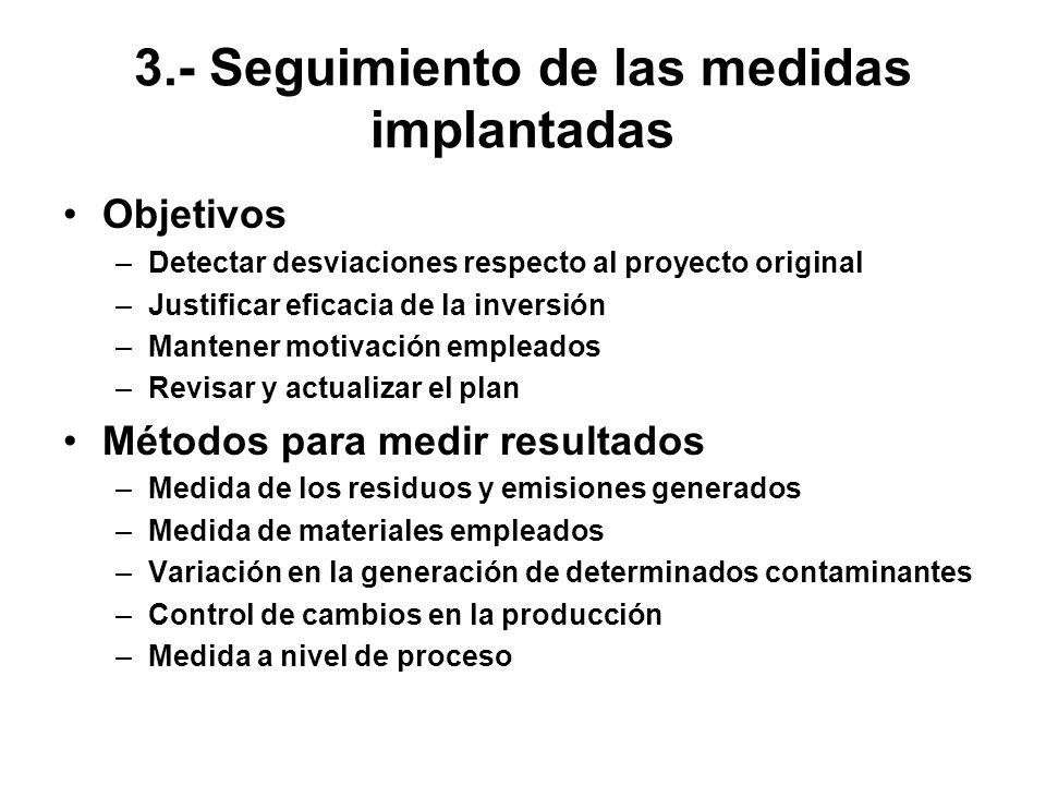 3.- Seguimiento de las medidas implantadas