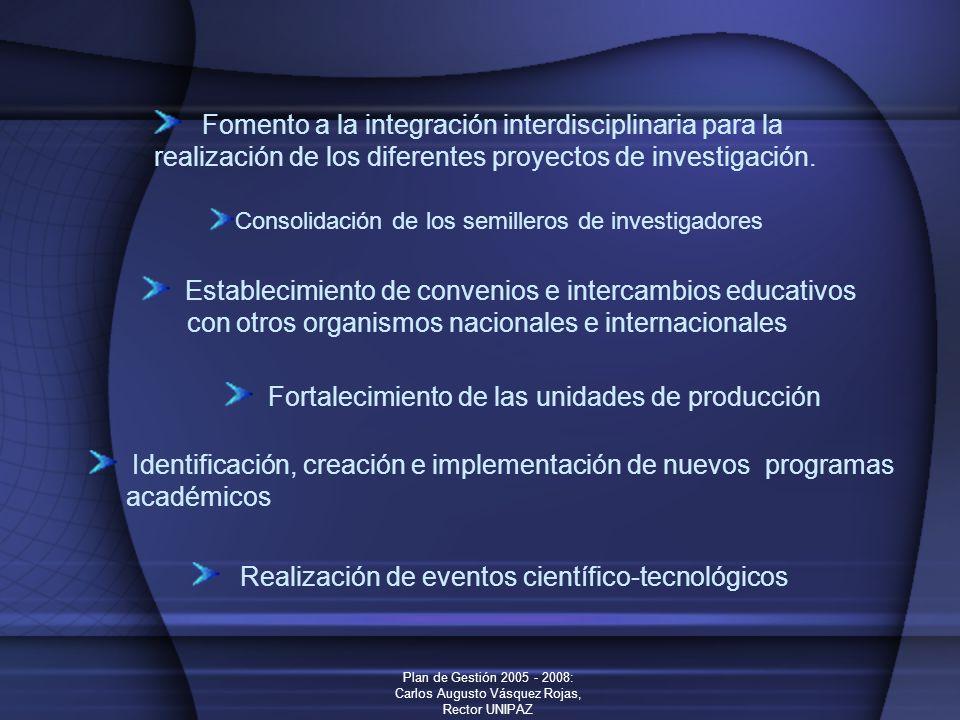Fomento a la integración interdisciplinaria para la