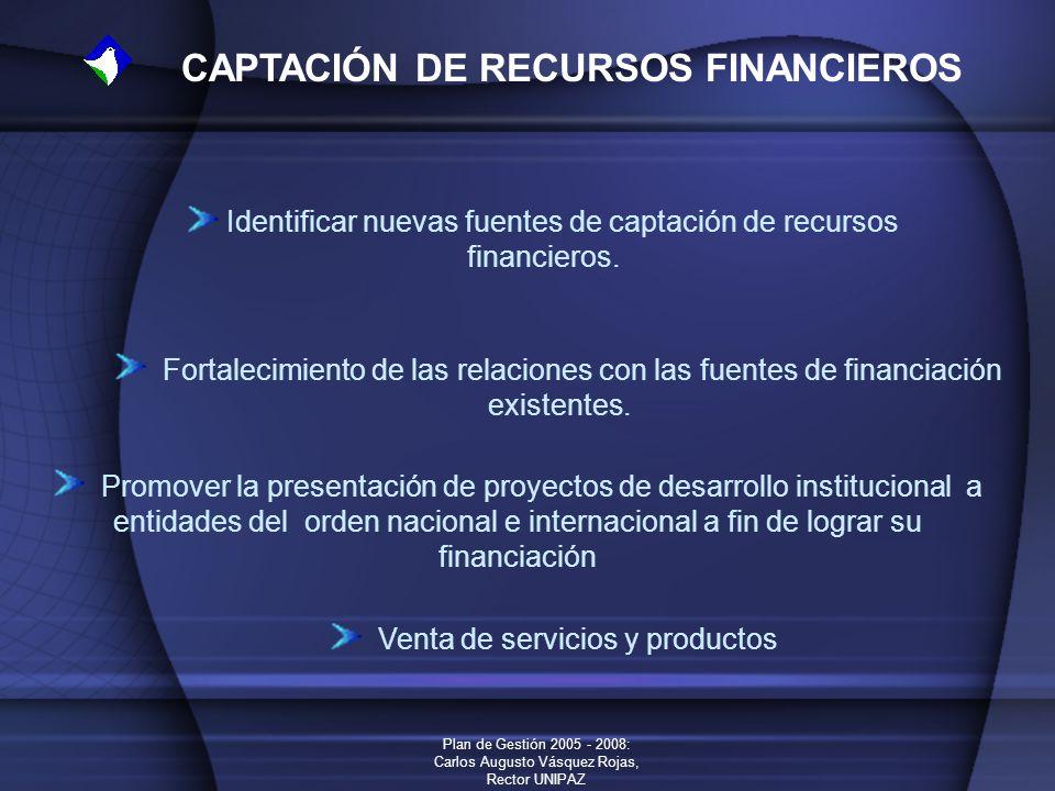 Identificar nuevas fuentes de captación de recursos financieros.