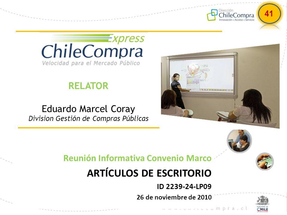 RELATOR Eduardo Marcel Coray Division Gestión de Compras Públicas