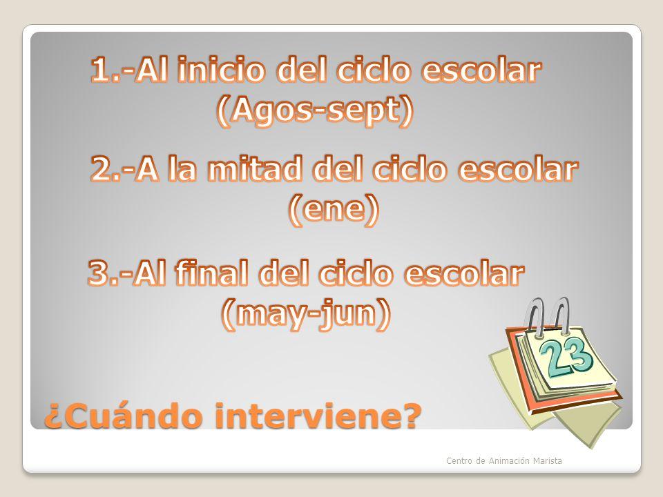 1.-Al inicio del ciclo escolar (Agos-sept)