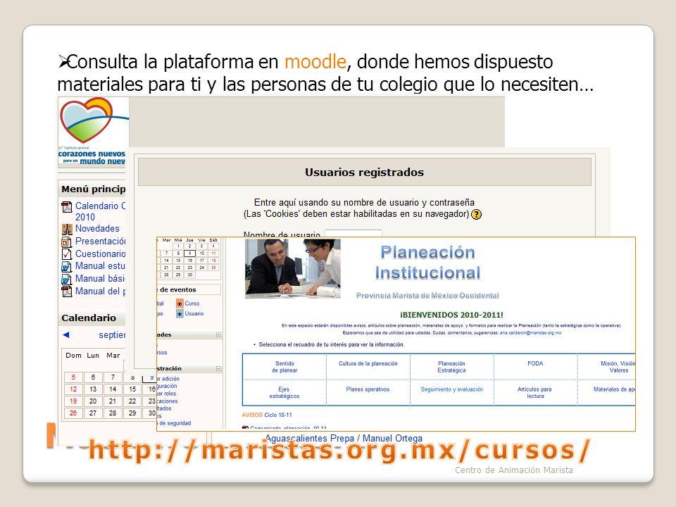 Más información… http://maristas.org.mx/cursos/