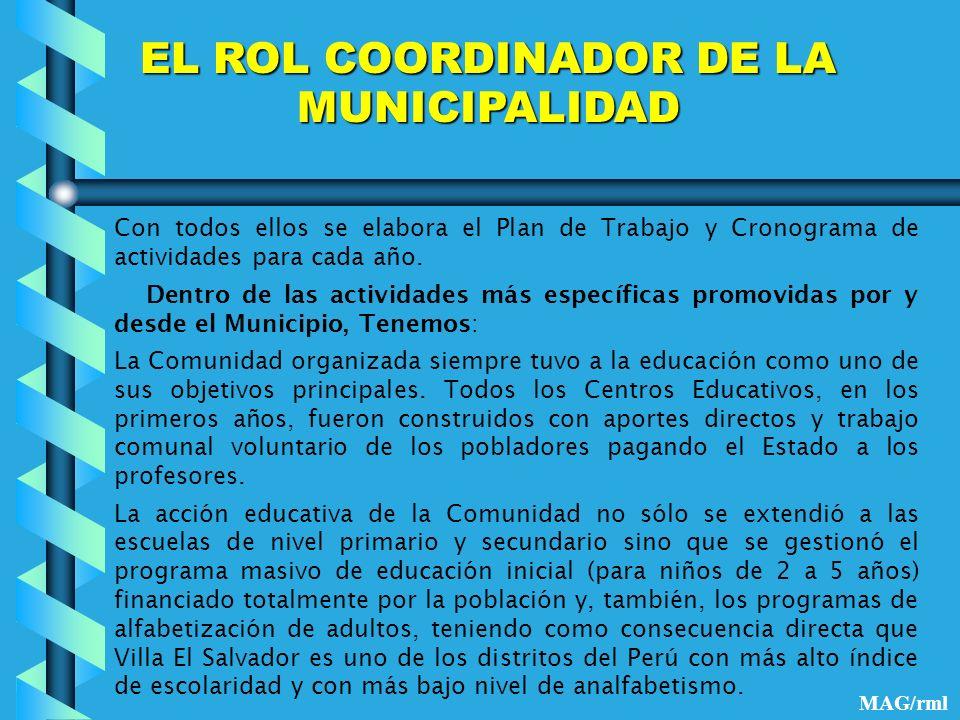 EL ROL COORDINADOR DE LA MUNICIPALIDAD