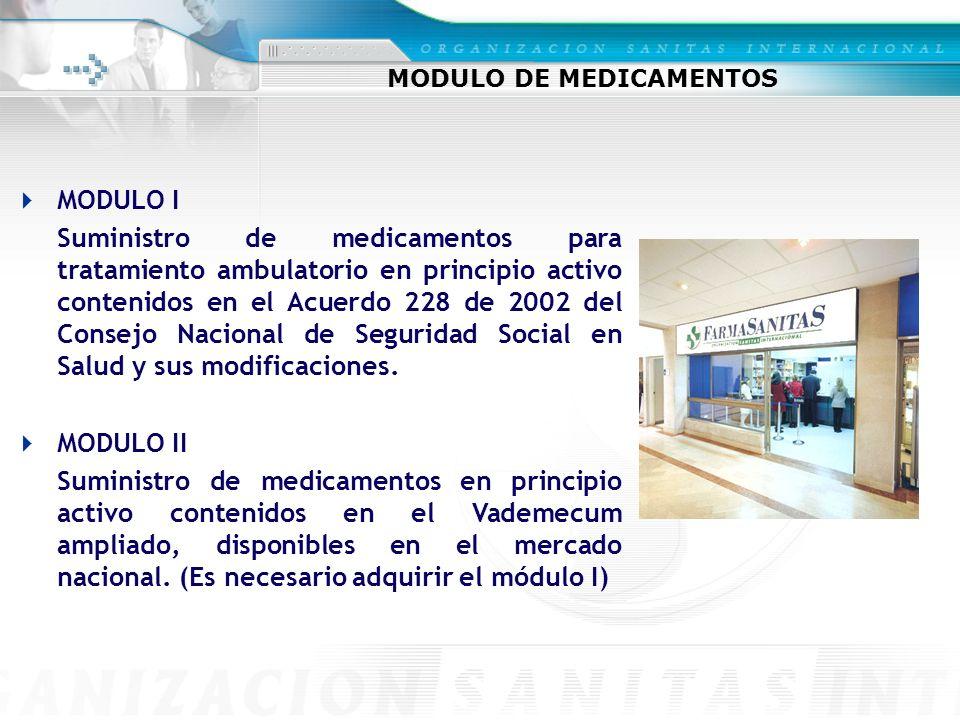MODULO DE MEDICAMENTOS