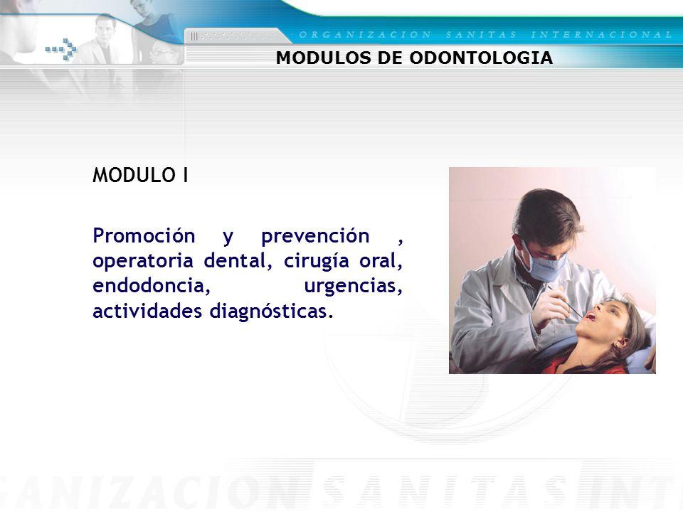 MODULOS DE ODONTOLOGIA