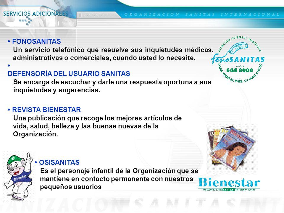 • FONOSANITAS • REVISTA BIENESTAR • OSISANITAS