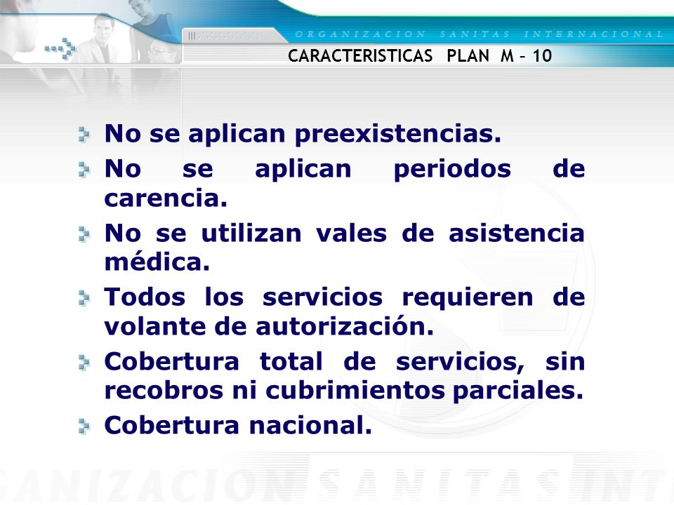 CARACTERISTICAS PLAN M – 10
